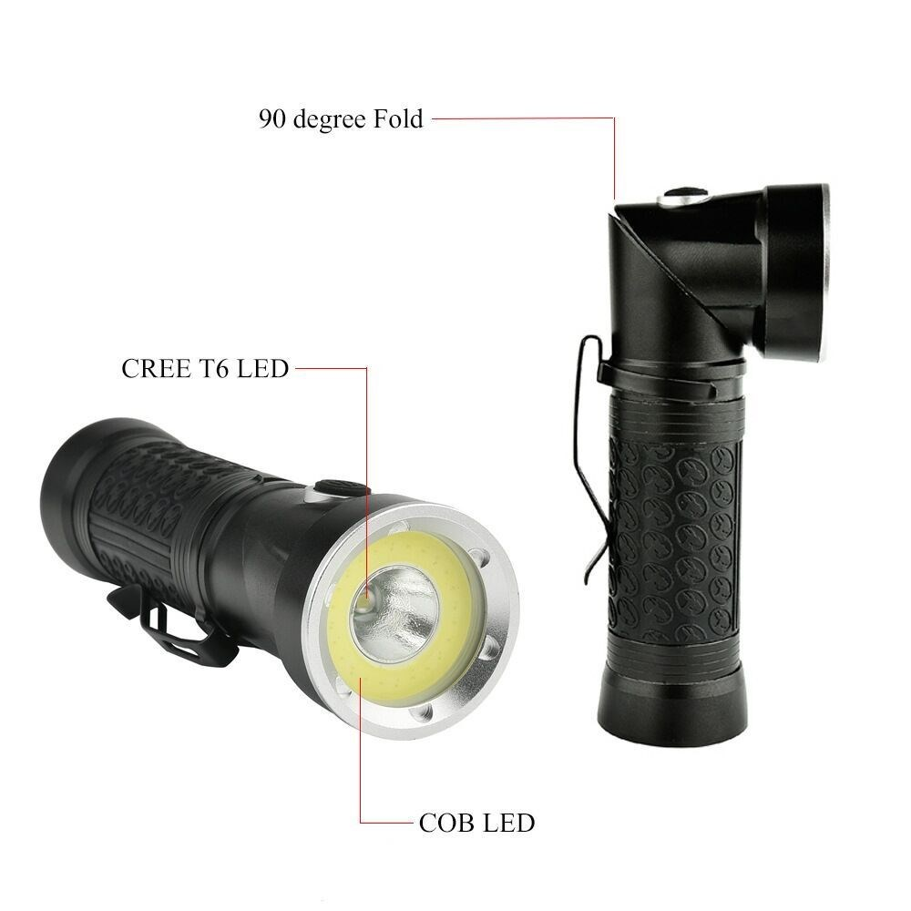 Rechargeable LED, Rotatable Flashlight
